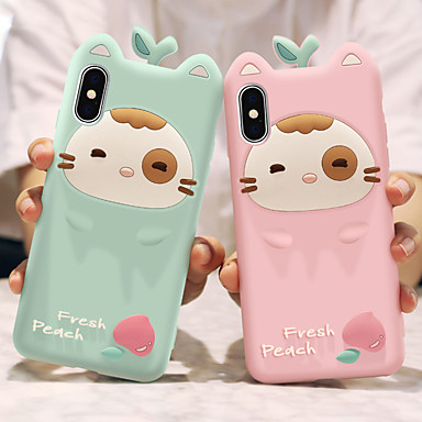 voordelige iPhone-hoesjes-hoesje Voor Apple iPhone XS / iPhone XR / iPhone XS Max Schokbestendig / Patroon Achterkant Cartoon Zacht Siliconen