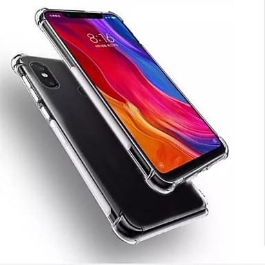 Недорогие Чехлы и кейсы для Xiaomi-Кейс для Назначение Xiaomi Xiaomi Mi 8 Защита от удара / Прозрачный Кейс на заднюю панель Прозрачный Мягкий ТПУ