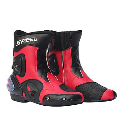 Недорогие Средства индивидуальной защиты-мужские ботинки для мотогонок кожаные ботинки для мотоциклов верховая езда на мотоцикле мотокросс внедорожные ботинки