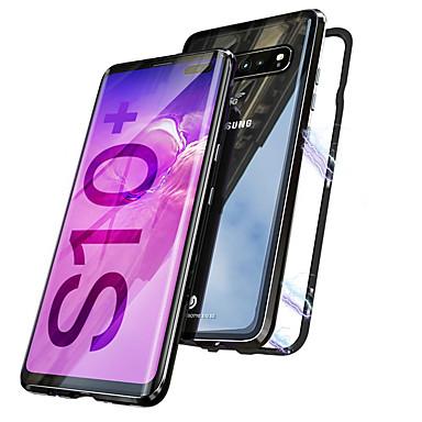 Недорогие Чехлы и кейсы для Galaxy S-магнитный двухсторонний чехол для samsung galaxy galaxy s10 / galaxy s10 plus магнитный чехол для всего тела прозрачный жесткий металл