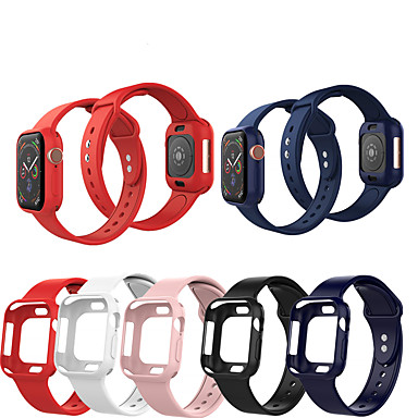 cheap Apple Watch Bands-Smartwatch Band Cases for Apple Watch Series 6 SE 5 4 3 2 1  Apple Silicone Band Silicone Cases iwatch Fashion Soft Sport Strap