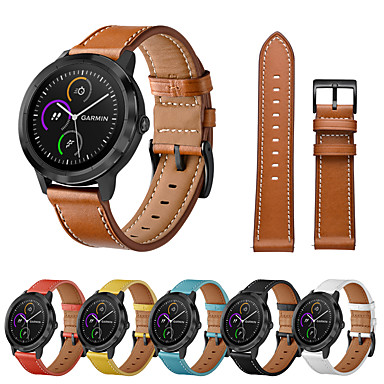 cheap Smartwatch Accessories-Watch Band for Vivoactive HR / Vivoactive 3 Garmin Leather Loop Genuine Leather Wrist Strap