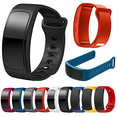 Недорогие Часы для Samsung-Ремешок для часов для Gear Fit Pro / Gear Fit 2 Samsung Galaxy Спортивный ремешок силиконовый Повязка на запястье