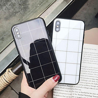 voordelige iPhone 6 Plus hoesjes-hoesje Voor Apple iPhone XS / iPhone XR / iPhone XS Max Spiegel / Patroon Achterkant Geometrisch patroon Hard Gehard glas