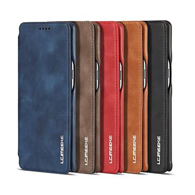 Недорогие Чехлы и кейсы для Galaxy Note-Роскошный магнитный аттракцион откидная крышка чехол для Samsung Galaxy Note 8 Note 9 бизнес кобура ретро кожаный чехол простой