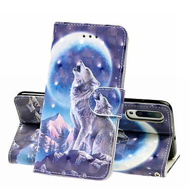 Недорогие Чехлы и кейсы для Galaxy А-Кейс для Назначение SSamsung Galaxy A6 (2018) / A6+ (2018) / Galaxy A7(2018) Кошелек / Бумажник для карт / Защита от удара Чехол Животное Твердый Кожа PU