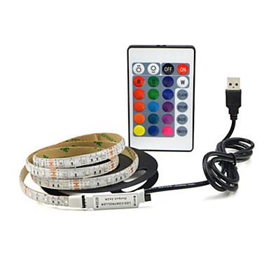 رخيصةأون شرائط ضوء مرنة LED-4m شرائط ضوء led مرنة 240 المصابيح smd2835 8mm تغيير لون الديكور / ذاتية اللصق 5 فولت مجموعة 1