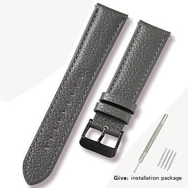 رخيصةأون قيود ساعات-جلد أصلي / جلد / شعر العجل حزام حزام إلى رمادي 17CM / 6.69 بوصة / 18cm / 7 Inches / 19cm / 7.48 Inches 1cm / 0.39 Inches / 1.2cm / 0.47 Inches / 1.3cm / 0.5 Inches