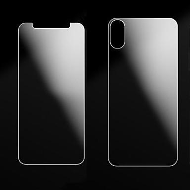 Недорогие Защитные плёнки для экрана iPhone-AppleScreen ProtectoriPhone X Защита от царапин Защитная пленка для экрана и задней панели 2 штs Закаленное стекло