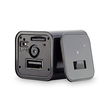 olcso IP kamerák-pel_055j mini hd 1080p vezetékes / vezeték nélküli wi-fi csatlakozóval felszerelt kamera kártyaolvasó 1 mp 3,6 mm-es alaplencse ip kamera beltéri távoli hozzáférés ip65 vízálló telefon töltő