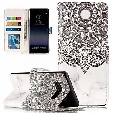 Недорогие Чехлы и кейсы для Galaxy S-чехол для samsung galaxy s9 plus / s9 кошелек / визитница чехол для всего тела череп / плитка мягкая тпу / искусственная кожа для s6 / s6 edge / s7