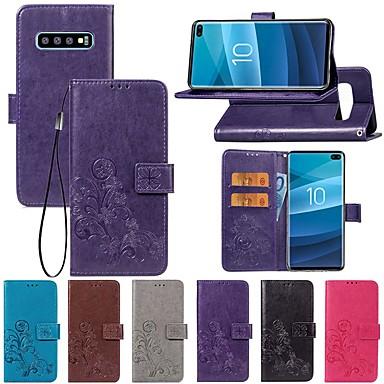 Недорогие Чехлы и кейсы для Galaxy S3-Кейс для Назначение SSamsung Galaxy S9 / S9 Plus / S8 Plus Кошелек / со стендом / Флип Чехол Однотонный / Бабочка / Цветы Твердый Кожа PU