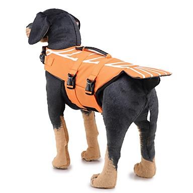 povoljno Odjeća za psa i dodaci-Psi Waterproof Mellény Pojas za spašavanje Odjeća za psa Crn Tamno zelena Fuksija Kostim Bigl Shiba Inu Mops (Pug) Poliester Prugasti uzorak Geometrijski oblici Classic Style S M L