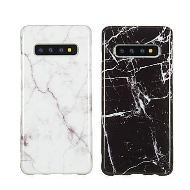 Недорогие Чехлы и кейсы для Galaxy S-Кейс для Назначение SSamsung Galaxy Galaxy S10 / Galaxy S10 Plus / Galaxy S10 E IMD / С узором Кейс на заднюю панель Мрамор Мягкий ТПУ