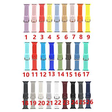 Недорогие Ремешки для Apple Watch-Красочный мягкий силиконовый спортивный ремешок для яблочных часов 38мм 42мм 40мм 44мм резиновый ремешок для часов ремешок для iwatch серии 4 3 2 1 браслет