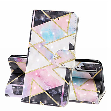 voordelige Galaxy A-serie hoesjes / covers-case voor samsung galaxy a70 (2019) galaxy a50 (2019) telefoon case pu lederen materiaal 3d geschilderd patroon telefoon case voor a10 a20 a30 a40 a90 a7 2018