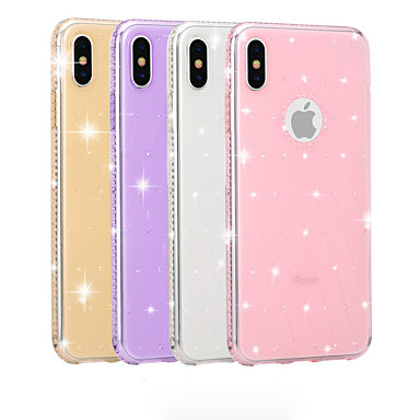 Недорогие Кейсы для iPhone 6 Plus-Кейс для Назначение Apple iPhone XS / iPhone XR / iPhone XS Max Стразы / Сияние и блеск Кейс на заднюю панель Сияние и блеск Мягкий ТПУ