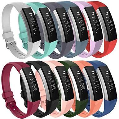 Недорогие Аксессуары для смарт-часов-Ремешок для часов для Fitbit Alta HR / Fitbit Alta Fitbit Спортивный ремешок силиконовый Повязка на запястье