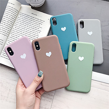 voordelige iPhone 6 Plus hoesjes-hoesje voor apple iphone xr / iphone xs max patroon achterkant hart soft tpu voor iphone x xs 8 8plus 7 7plus 6 6plus 6s 6s plus