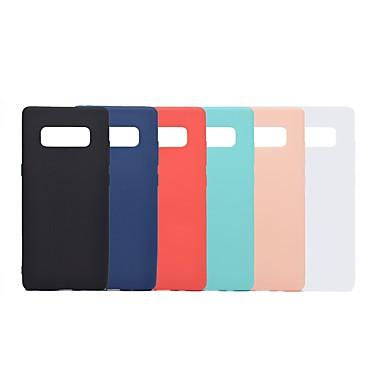 Недорогие Чехлы и кейсы для Galaxy Note-Кейс для Назначение SSamsung Galaxy Note 9 / Note 8 Защита от удара / Матовое Кейс на заднюю панель Однотонный Мягкий ТПУ