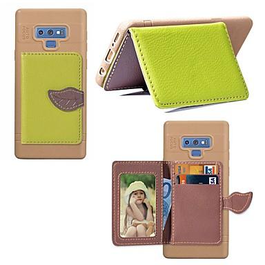 Недорогие Чехлы и кейсы для Galaxy Note-Кейс для Назначение SSamsung Galaxy Note 9 / Note 8 Бумажник для карт / Защита от удара / со стендом Кейс на заднюю панель Пейзаж / дерево Твердый Кожа PU