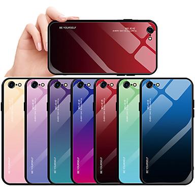 voordelige iPhone-hoesjes-hoesje Voor Apple iPhone 8 Plus / iPhone 8 / iPhone 7 Plus Stofbestendig / Waterbestendig Achterkant Kleurgradatie Hard Gehard glas