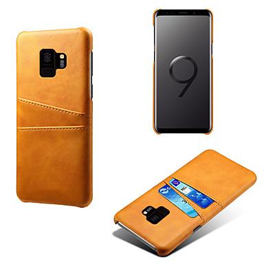 voordelige Galaxy S-serie hoesjes / covers-hoesje Voor Samsung Galaxy S9 / Galaxy S10 / Galaxy S10 Plus Kaarthouder / Stofbestendig / Waterbestendig Achterkant Effen Hard PU-nahka / PC