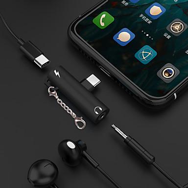 abordables Câbles & Adaptateurs de Téléphone-Type-C Adaptateur 2.4 A 0.2m (0.65Ft) 1 à 2 Aluminium Adaptateur de câble USB Pour Samsung / Huawei
