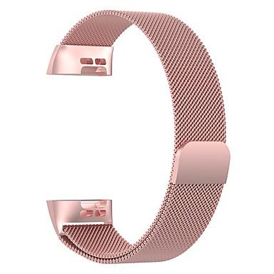 voordelige Smartwatch-accessoires-horlogeband voor fitbit charge 3 fitbit milanese lus roestvrij stalen polsband