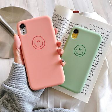 Недорогие Кейсы для iPhone 6 Plus-Кейс для Назначение Apple iPhone XR / iPhone XS Max / iPhone X С узором Кейс на заднюю панель Мультипликация Мягкий Силикон