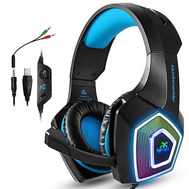 olcso Gaming fülhallgatók-játék fejhallgatók xbox egy ps4 fejhallgató játék fejhallgató led lámpákkal sztereó játék fejhallgató 3,5 mm-es vezetékes fülhallgató pc mac
