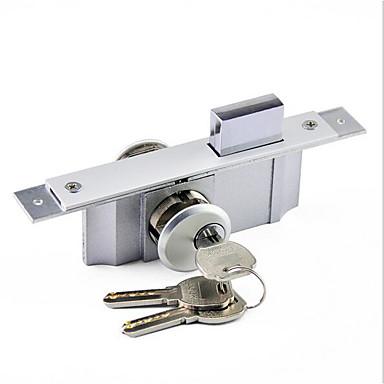 رخيصةأون أدوات اليد-الثقيلة سبائك الألومنيوم قفل زجاج مؤطرة مكتب قفل الباب المركزي انزلاق الباب هوك قفل