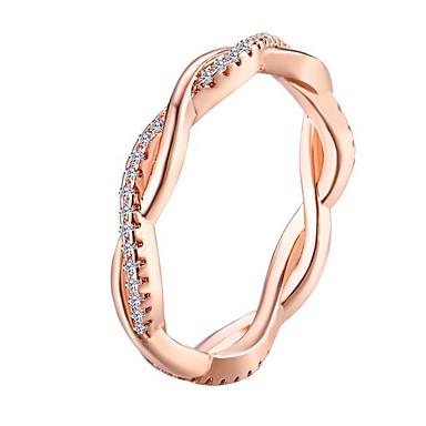 olcso Aranyozott-Női Band Ring hüvelykujj gyűrű 1db Ezüst Vörös arany Réz Strassz Arannyal bevont Circle Shape Geometric Shape hölgyek Szokatlan Egyedi Napi Munka Ékszerek Klasszikus Kreatív Szeretetreméltő