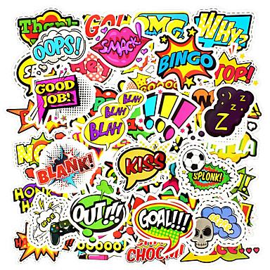 50 قطعة / المجموعة الأزياء نمط النص ملصقا اللعب ديي القصاصات الديكور سيارة محمول
