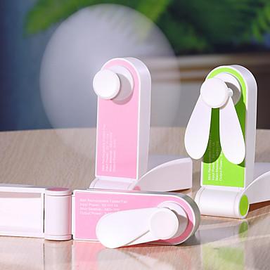 Недорогие Смарт-трекеры-1 шт. USB мини зарядка карманный складной вентилятор портативный ручной маленький вентилятор творческий мелкая бытовая техника настольный вентилятор