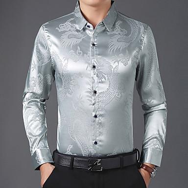 رخيصةأون قمصان رجالي-رجالي قميص حيوان أزرق البحرية XL