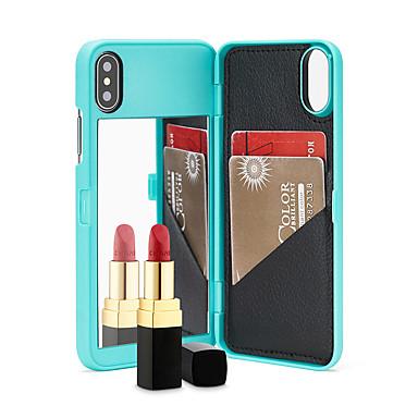 Недорогие Кейсы для iPhone 7 Plus-чехол для яблока iphone xs max / iphone 8 plus зеркало / противоударный / держатель карты задняя крышка сплошное цветное мягкое тпу для iphone 7/7 plus / 8/6/6 plus / xr / x / xs
