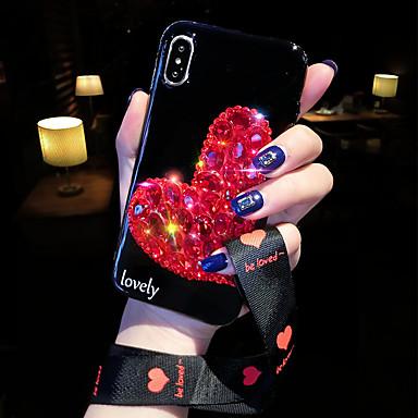 Недорогие Кейсы для iPhone-Кейс для Назначение Apple iPhone XS / iPhone X / iPhone 8 Pluss Защита от удара Кейс на заднюю панель С сердцем Мягкий пластик