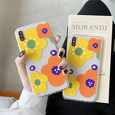 Недорогие Кейсы для iPhone 6-чехол для яблока iphone xr / iphone xs max рисунок / прозрачная задняя крышка цветок мягкая тпу для 6 6 плюс 6 с 6 splus 7 8 7 плюс 8 плюс x xs
