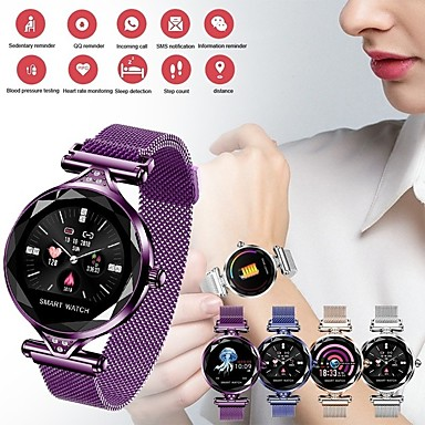 st01 الذكية مشاهدة النساء أزياء القلب رصد معدل smartwatch سيدة لياقة سوار عداد الخطى ارتداء مريح مريح