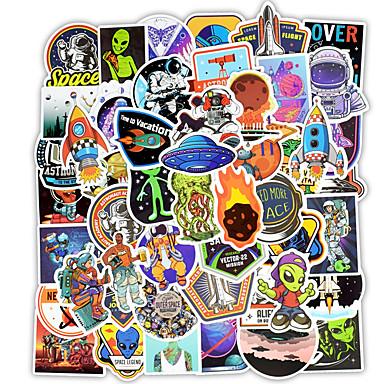 50 قطعة / المجموعة ملصقات الفضاء الخارجي اللعب لسكرابوكينغ سكيت محمول
