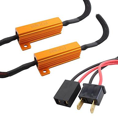 Недорогие Противотуманные фары-h7 резистор светодиодная лампа накаливания 6 Ом сопротивление декодера предупреждение об ошибке свободный декодер компенсатор конденсатор