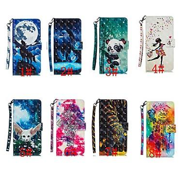 Недорогие Чехлы и кейсы для Nokia-Кейс для Назначение Nokia Nokia 7.1 / Nokia 5.1 / Nokia 5.1 Plus Кошелек / Бумажник для карт / Защита от удара Чехол Животное / Мультипликация / Панда Твердый Кожа PU