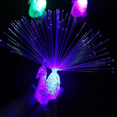 olcso LED izzó újdonságok-1db éjszakai party kellékek páva ujj könnyű színes led világító gyűrűk gyerekek gyermekjátékok éjszakai ének koncert szerkentyű dekoráció 5v