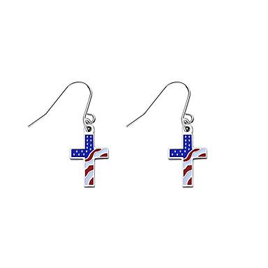 رخيصةأون أقراط-نسائي حلقات العلم الأمريكي علم الأقراط مجوهرات أزرق من أجل مناسب للبس اليومي 1PC