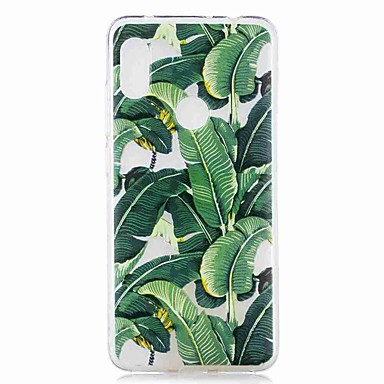 الحال بالنسبة xiaomi mi 8 لايت / redmi 6 الموالية نمط / شفاف الغطاء الخلفي شجرة الموز لينة tpu ل redmi note 6 الموالية / redmi 6a / redmi 6 / redmi 5plus / redmi 5 / redmi 5a