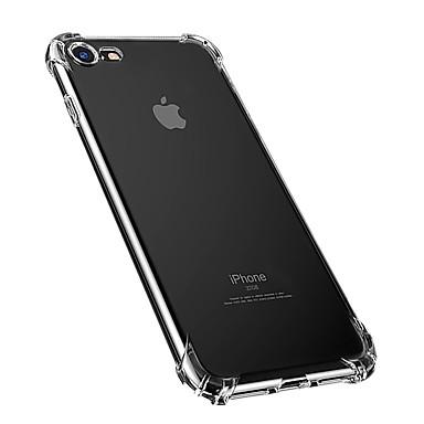 voordelige iPhone-hoesjes-hoesje Voor Apple iPhone 8 Plus / iPhone 8 / iPhone 7 Plus Stofbestendig / Waterbestendig / Transparant Achterkant Effen Zacht TPU