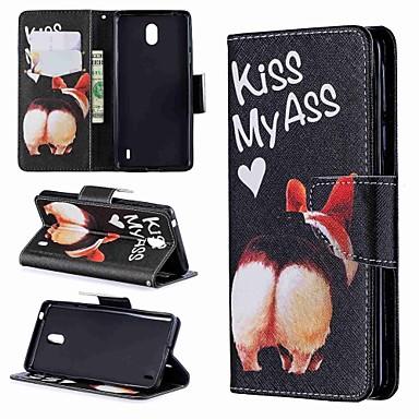 Недорогие Чехлы и кейсы для Nokia-Кейс для Назначение Nokia Nokia 8 / Nokia 7.1 / Nokia 5.1 Кошелек / Бумажник для карт / Защита от удара Чехол С собакой / Мультипликация Твердый Кожа PU