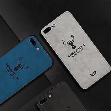 Недорогие Кейсы для iPhone 7 Plus-cisic чехол для apple iphone 8 plus / iphone 8 противоударная задняя крышка слово / фраза / однотонная мягкая хлопчатобумажная ткань для iphone 8 plus / iphone 8