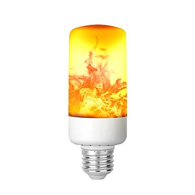 abordables LED e Iluminación-kwb llama efecto de fuego bombilla led 6w 3 modos retro sin llama bombillas medio tornillo hogar llama parpadeante ambiente decorativo luz para bar discotecas del hotel iluminación de jardín al aire